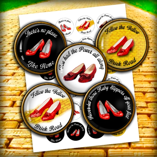 ruby slippers bottle cap images