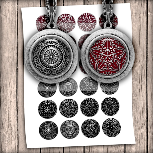 steampunk ornaments circle images